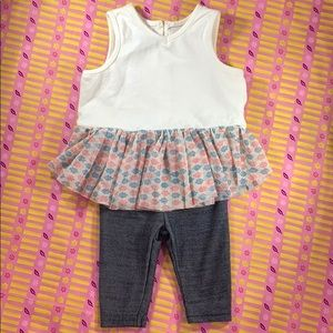 PIPPA & JULIE Baby 2 Piece Outfit - 3M - PREOWNED